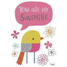 Lilipinso Muurstickers Vogel You are my Sunshine