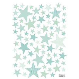 Lilipinso Muurstickers Sterren Superstar Mint