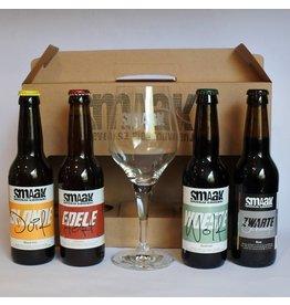 Cadeauset Smaak (glas en 4 flesjes)