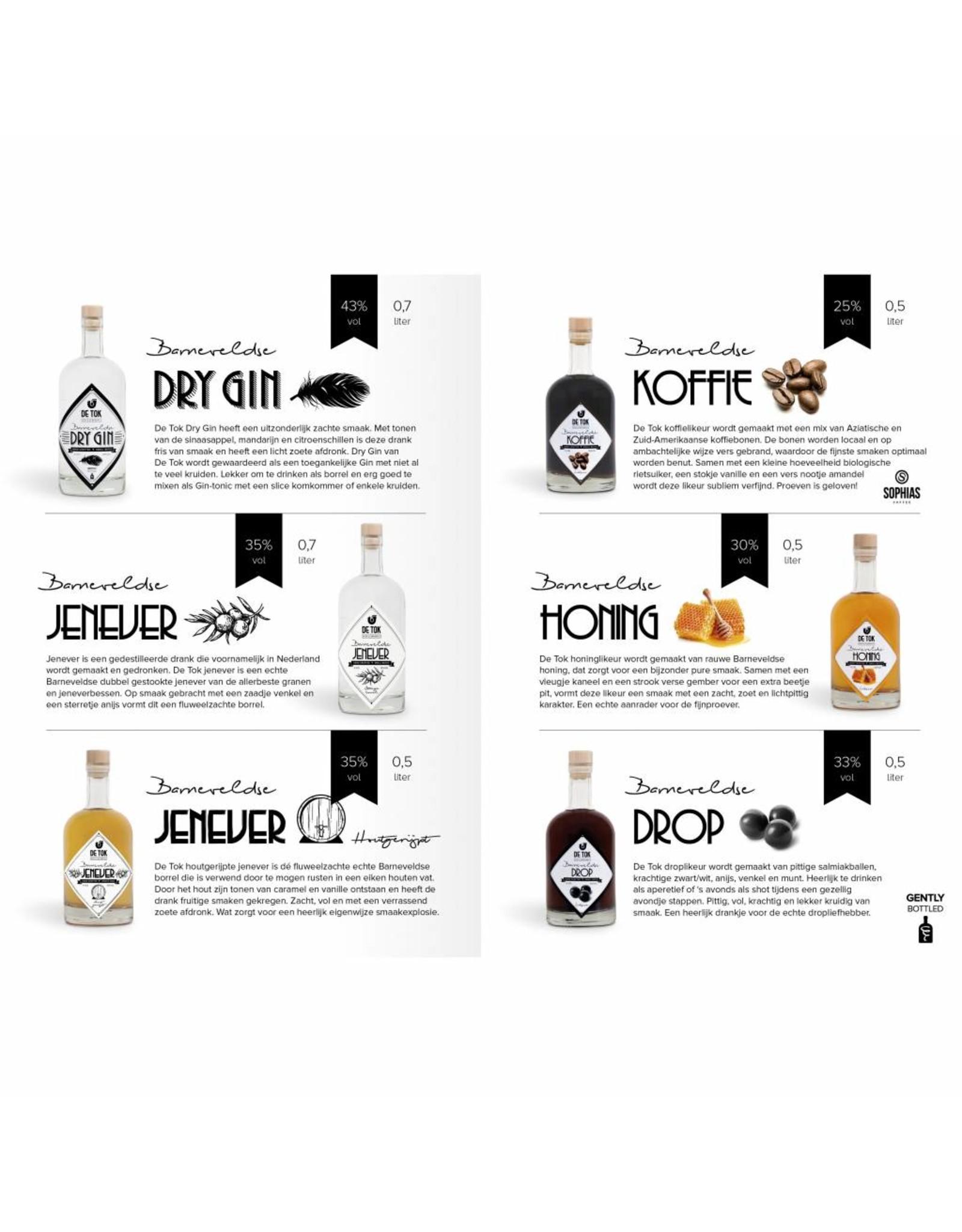 Distilleerderij De Tok, Barneveld Distilleerderij De Tok Honing (honinglikeur) 50cl.