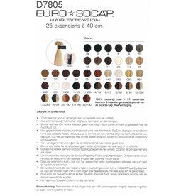 6  EuroSoCap Extensions 40cm 10st Chocolade Bruin