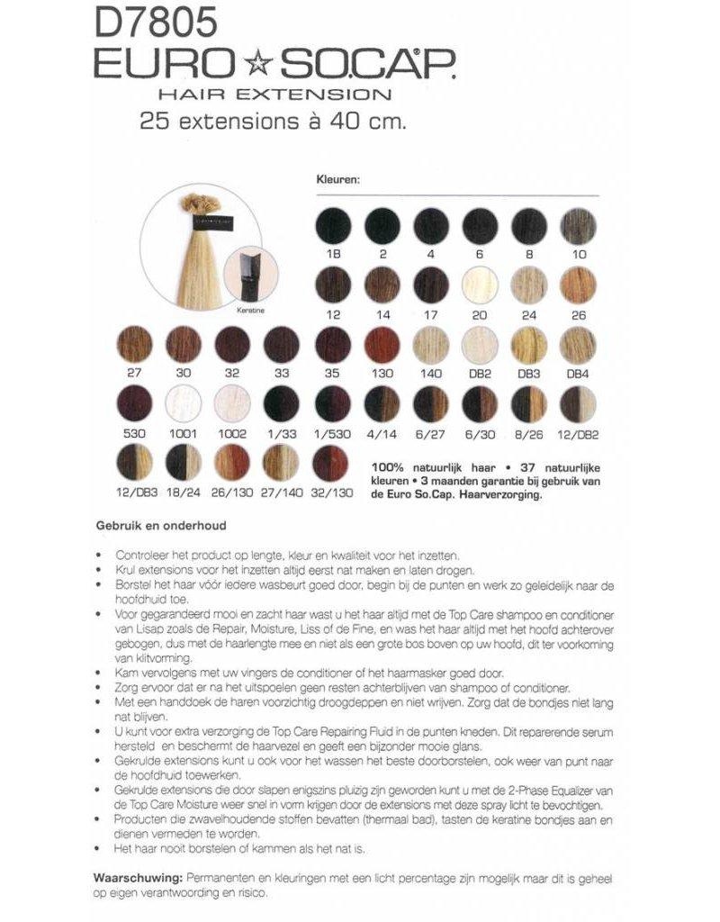 Euro So Cap 4 EuroSoCap Extensions 40cm 10st Bruin