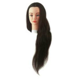 Oefenhoofd Jenny bruin 40-60cm 100% haar