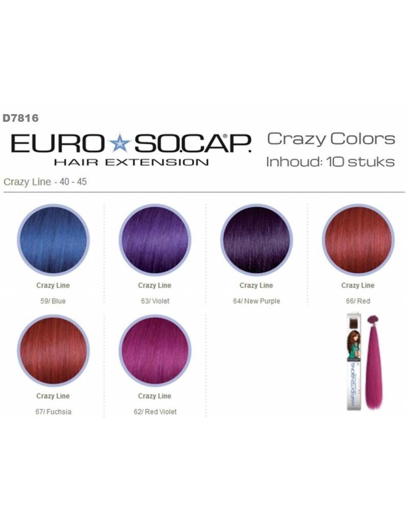Euro So Cap 64 Euro So-Cap Crazy Line Extension 40-45cm 10st New Purple