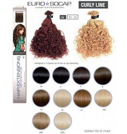 Euro So Cap 1B  EuroSoCap Extensions Curly Line 25st  50-55cm