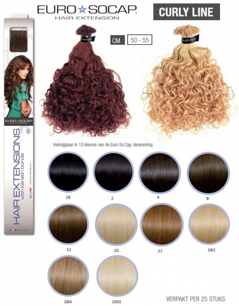 Euro So Cap DB2 EuroSoCap Extensions Curly Line 25st  50-55cm DB2 Licht Goudblond