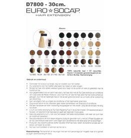 Euro So Cap 2  EuroSoCap Extensions 30cm 25st Donker Bruin
