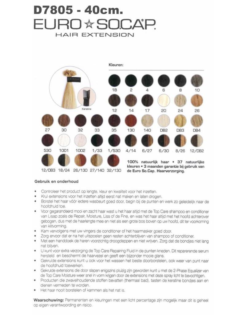 Nr. 12 EuroSoCap Extensions 40cm 25st Donker GoudBlond