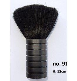 Nekkwast 13cm zwart
