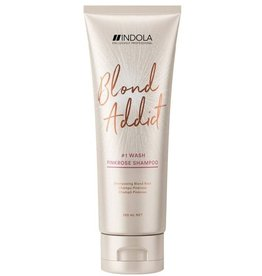Indola Blond Addict Pink Rose Shampoo tube 250ml.
