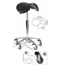 Roller Coaster zadel XL Aluminium voet H45-65cm