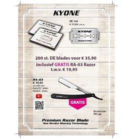 200 Kyone Blades met gratis Kyone Scheermes RA-03
