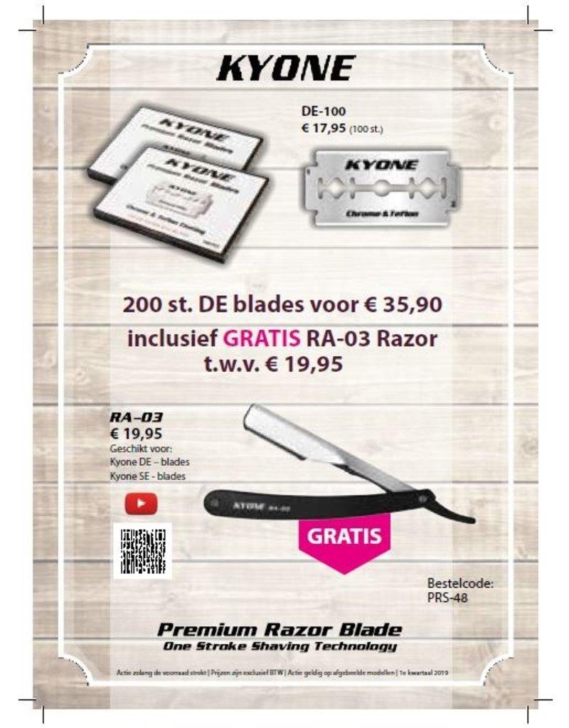 Kyone 400 Kyone Blades met gratis Kyone Scheermes RA-03