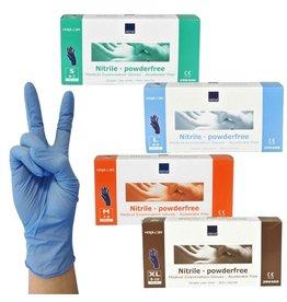 Nitrile Handschoen Blauw Poedervrij XS 100st