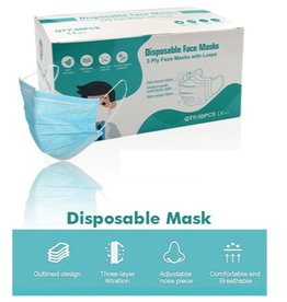 Face Mask Mondkapjes 3-laags 50 stuks