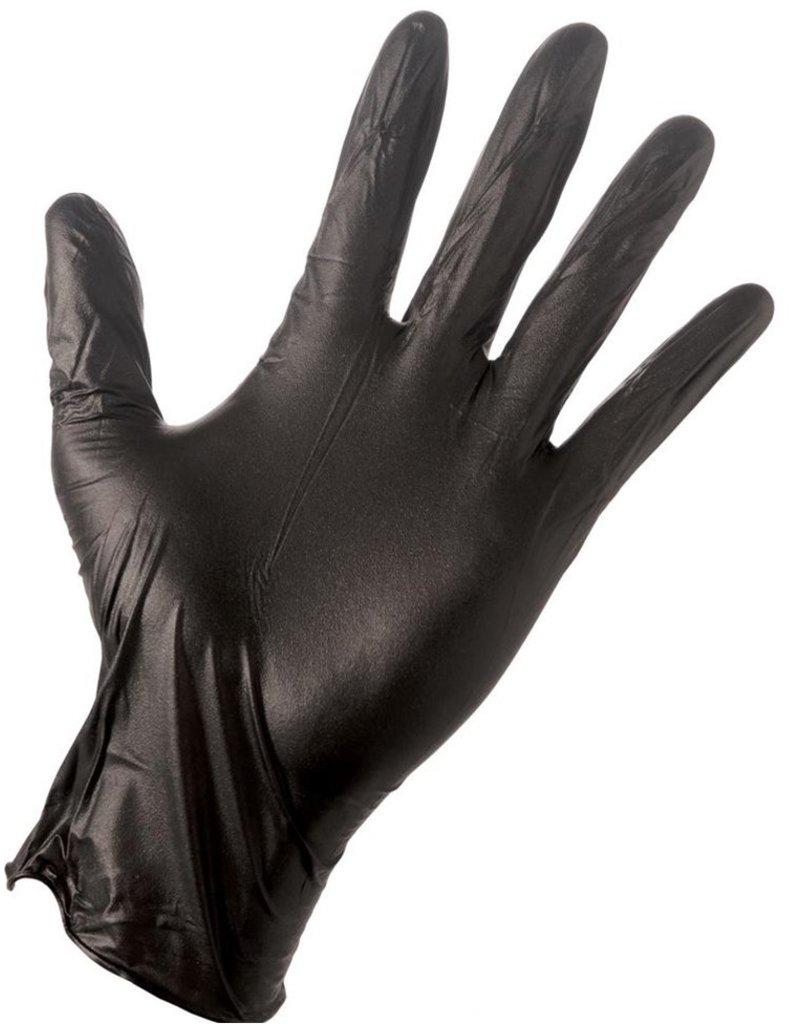 Black Nitril Gloves 50 stuks 30cm maat S