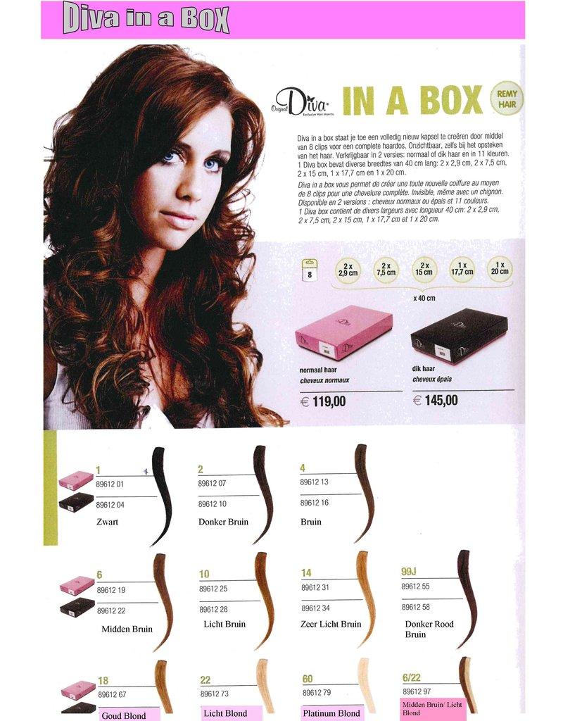 Diva Diva Clip-on Haarextensies 8-delig Donker Bruin