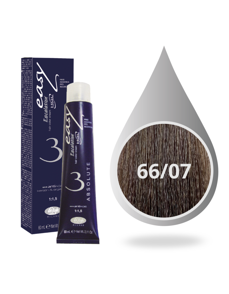 Lisap Absolute 66.07  Lisap Absolute 3 verf tube 60ml.Marron Clace