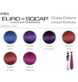 EuroSoCapCrazyColor50/55cm10st Fuchia 67