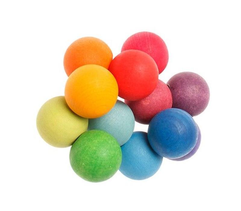 Grimm's Toy's kralen grijper rainbow
