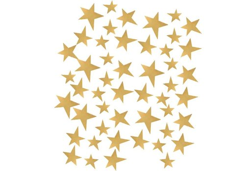 Pom le Bonhomme 70 wall stickers stars gold