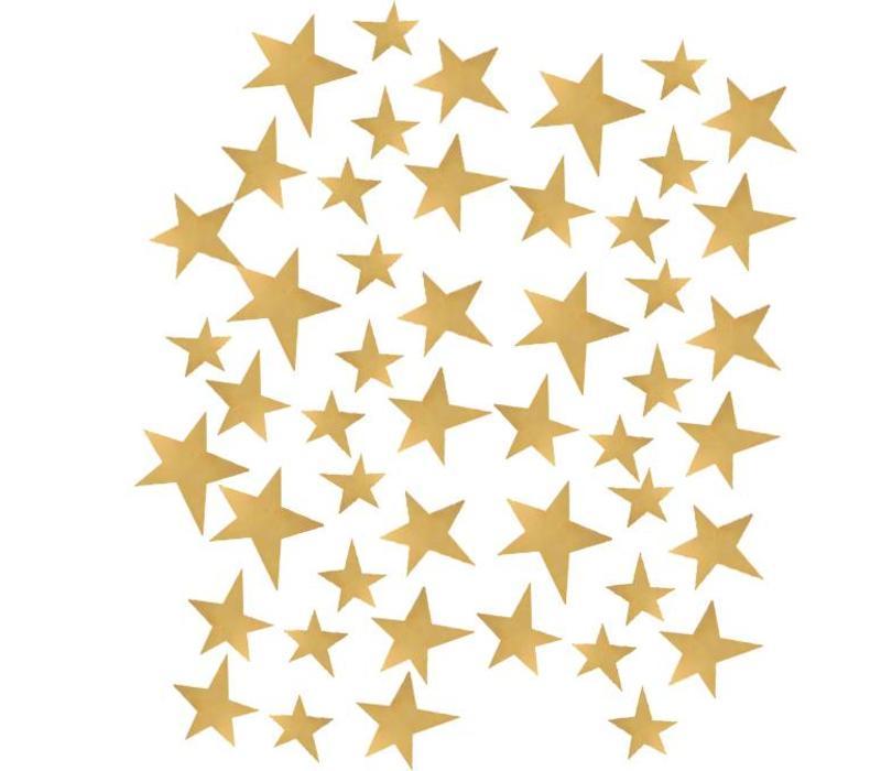 Pom le Bonhomme 70 Wandsticker Sterne gold