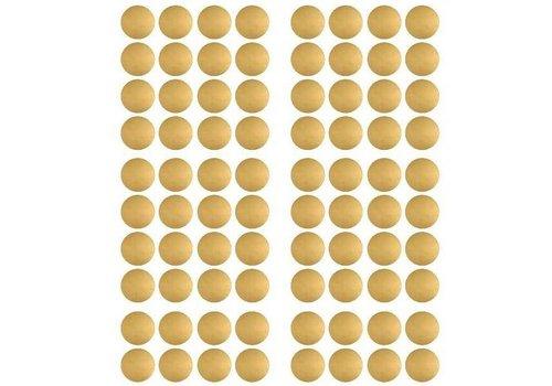 Pom le Bonhomme 120 muurstickers stippen goud 3,5 cm
