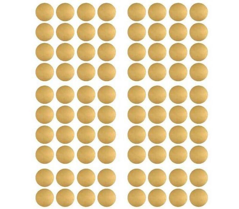 Pom le Bonhomme 120 Wandaufkleber Punkte Gold 3,5 cm