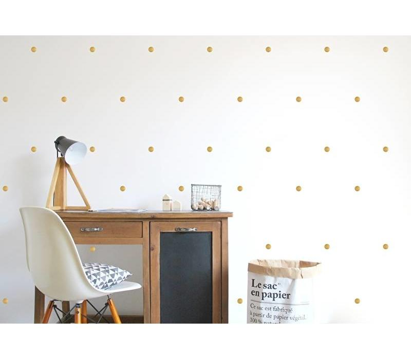 Pom le Bonhomme 120 wall stickers dots gold 3.5 cm