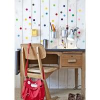 Pom le Bonhomme 120 wall stickers dots multicolor 3,5cm
