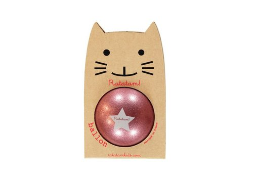 Ratatam glitter ball pink small