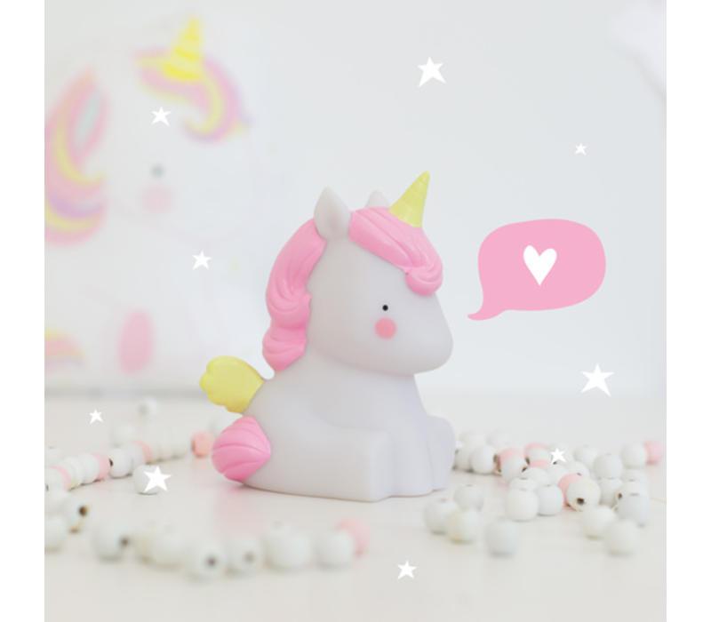 A Little Lovely Company unicorn lampje