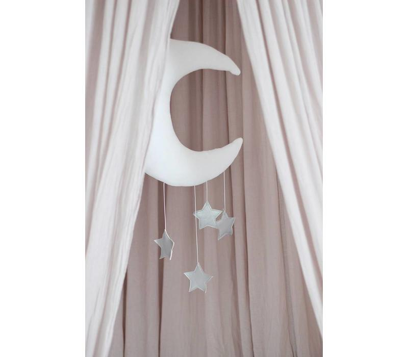 Cotton & Sweets moon mobile dusty pink - gold stars