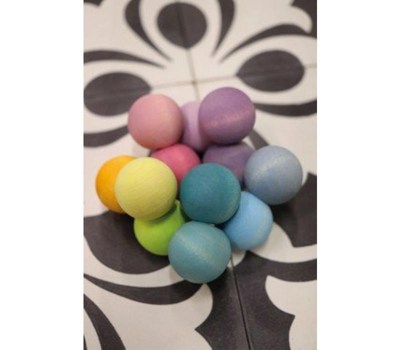 Grimms Toy Grab-Perlen Regenbogen Pastell