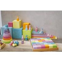 Grimm's Toy's square 36 blocks of pastel