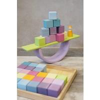 Grimm Toy 36 quadratische Blöcke Pastell