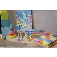 Grimm's Toy's toren rond pastel