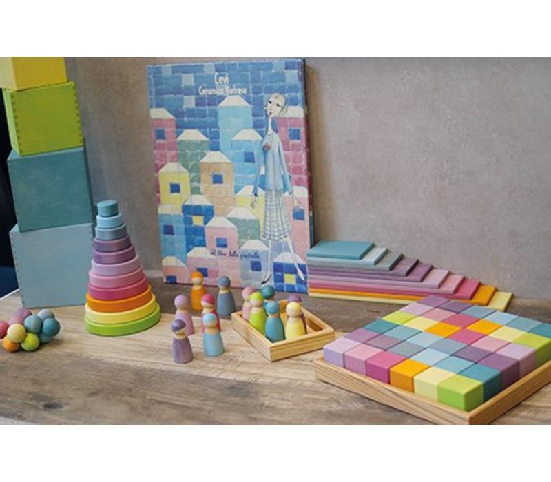 Grimm's Toy's tower around pastel