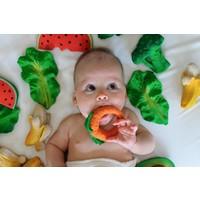 Oli & Carol bite & bath toy melon