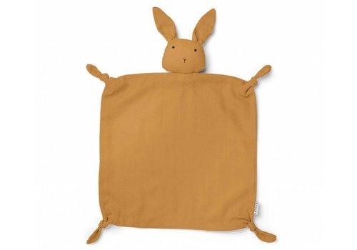 Liewood knuffeldoekje rabbit mustard