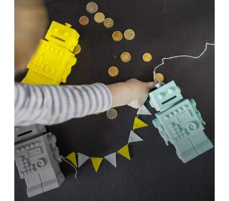 KG Design spaarpot robot geel