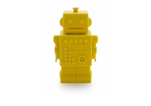 KG Design piggy bank robot yellow