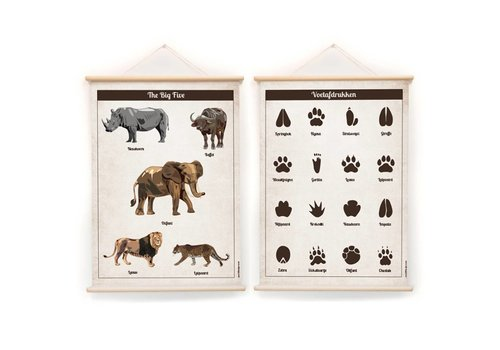 Little & Pure Talkplatten Die Big Five 50 x 70
