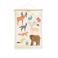 Little & Pure Talking Boards Forest Animals 50 x 70