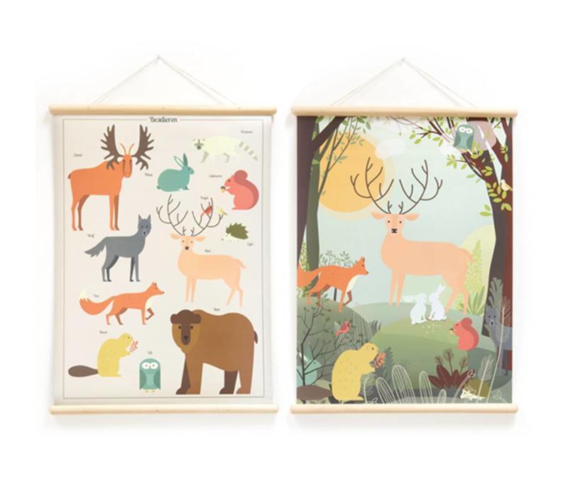 Little & Pure Talking Boards Waldtiere 50 x 70