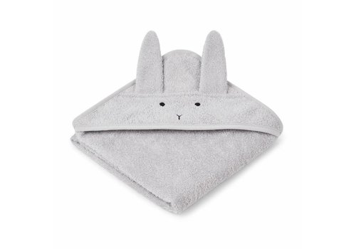 Liewood bathcape rabbit gray 70x70