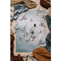 Frau Mighetto Poster Lieber Whalie 50x70