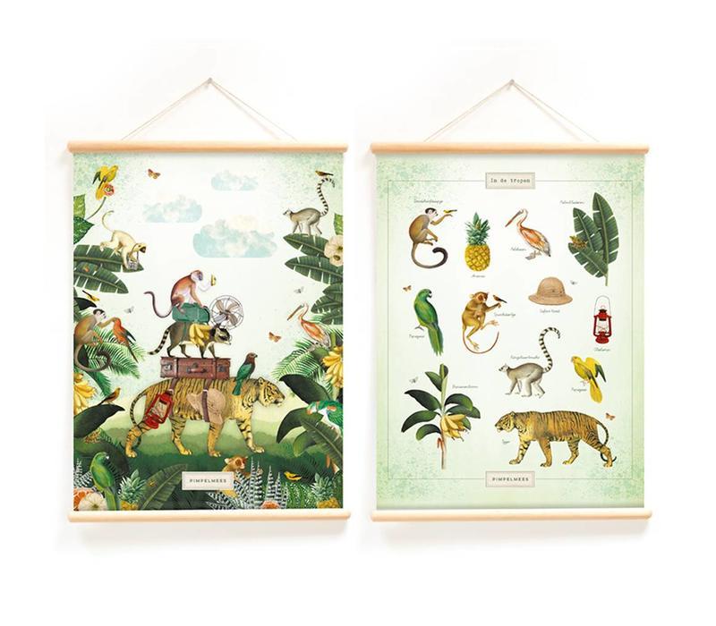 Little & Pure Talkboards In the tropics 50 x 70