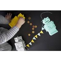 KG Design piggy bank robot blue