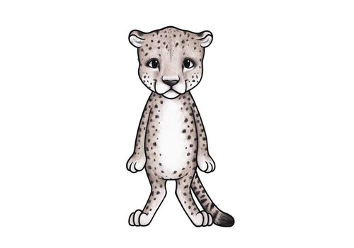 Stickstay muursticker Zitah the cheetah